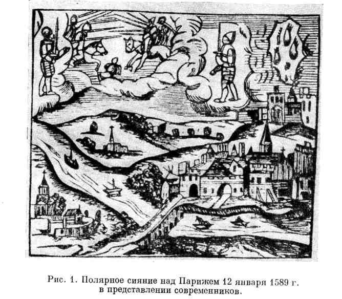 Полярное сияние над Парижем 12 января 1589 г. в представлении современников
