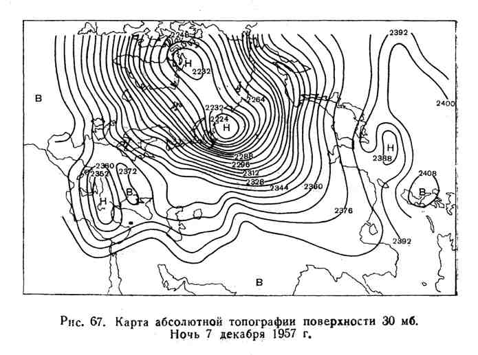 Карта абсолютной топографии поверхности 30 мб