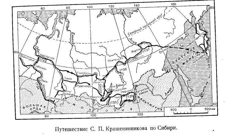 Путешествие С. П. Крашенинникова по Сибири