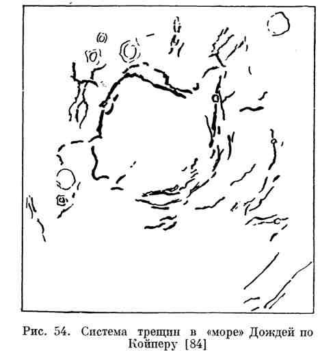 """Система трещин в """"море"""" Дождей по Койперу"""