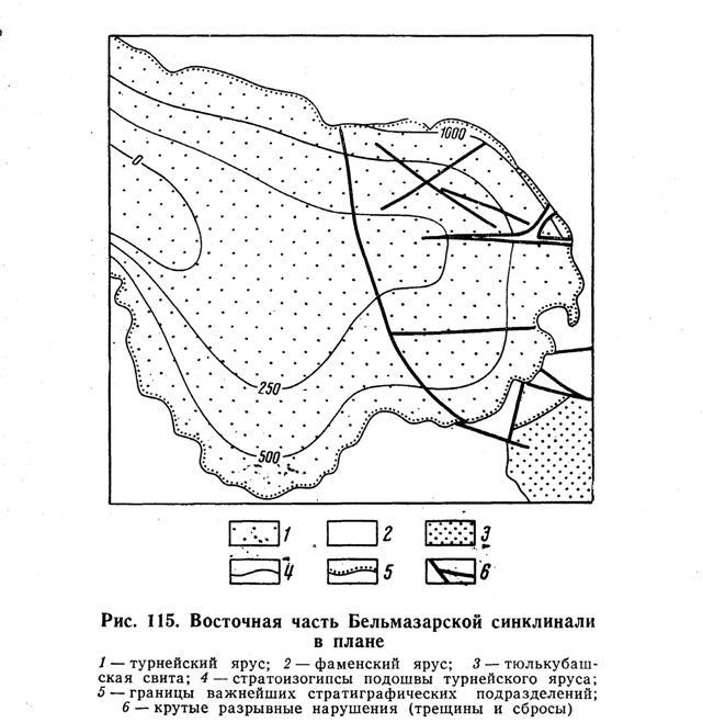 Восточная часть Бельмазарской синклинали в плане