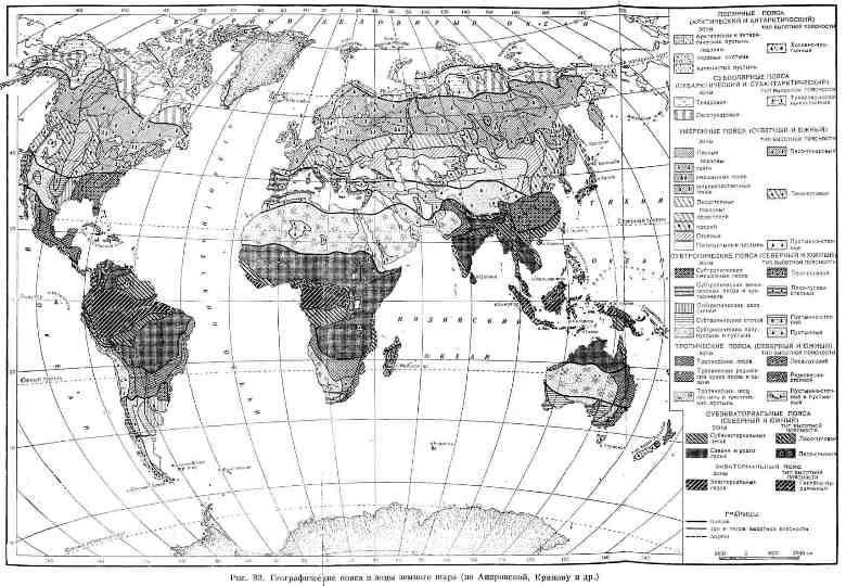 Географические пояса и зоны земного шара