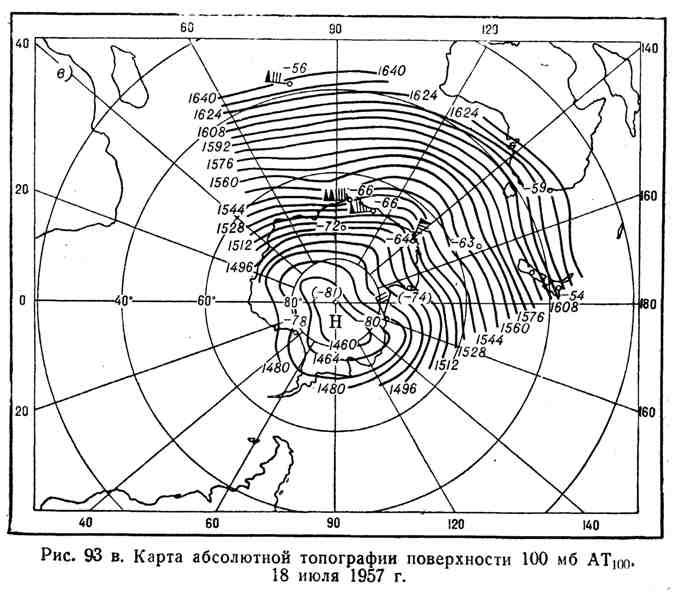 Карты абсолютной топографии поверхности 100 мб АТ100