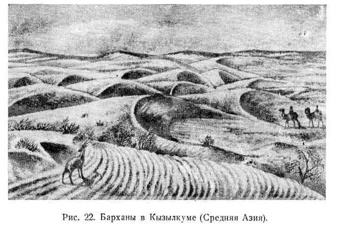 Барханы в Кызылкуме (Средняя Азия)
