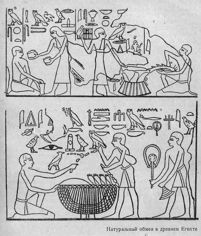 Натуральный обмен в древнем Египте