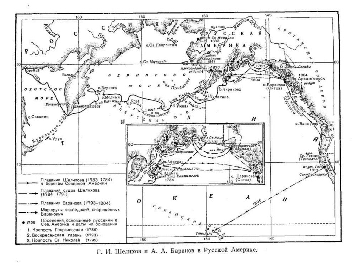 Г. И. Шелихов и А. А. Баранов в Русской Америке