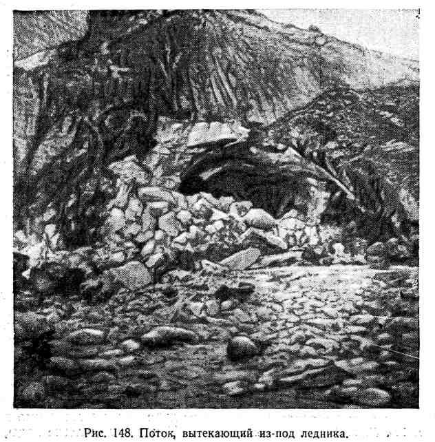 Поток, вытекающий из под ледника