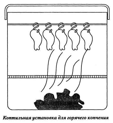 Коптильная установка для горячего копчения