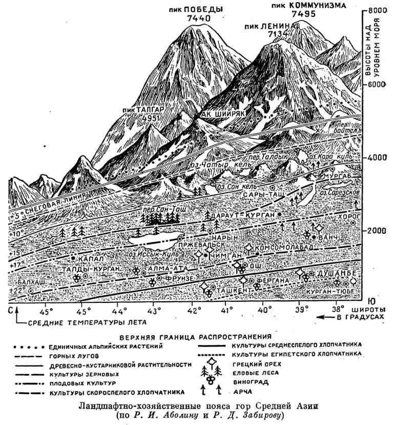 Ландшафтно-хозяйственные пояса гор Средней Азии