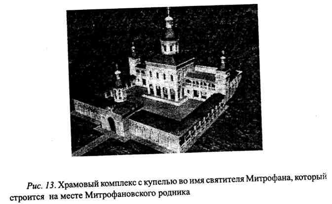 Храмовый комплекс с купелью во имя святителя Митрофана, который строится на месте Митрофановского родника в г. Воронеже