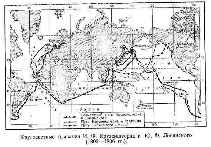 Кругосветные плавания И. Ф. Крузенштерна и Ю. Ф. Лисянского