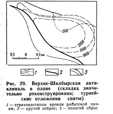 Верхне-Шилбырская антиклиналь в плане