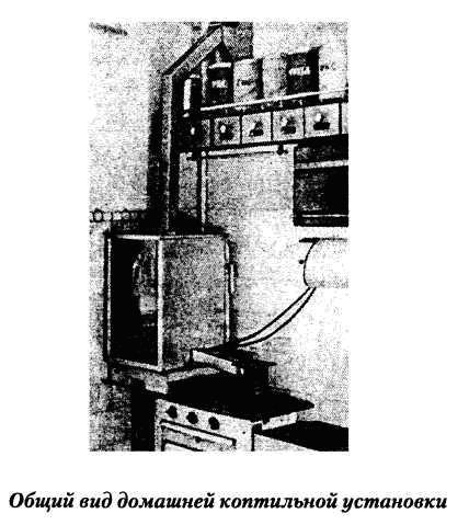 Общий вид домашней коптильной установки