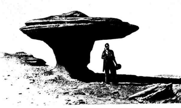 Грибообразные скалы на Мангышлаке - результат процесса пустынного выветривания горных пород