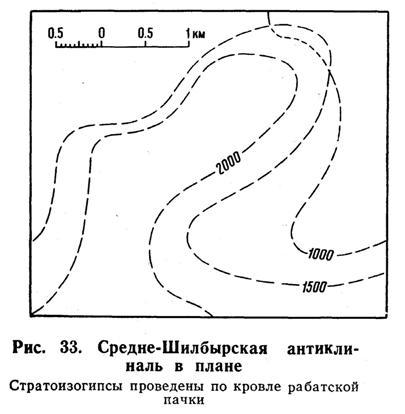 Средне-Шилбырская антиклиналь в плане