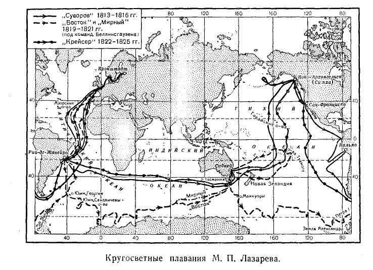 Кругосветные плавания М. П. Лазарева