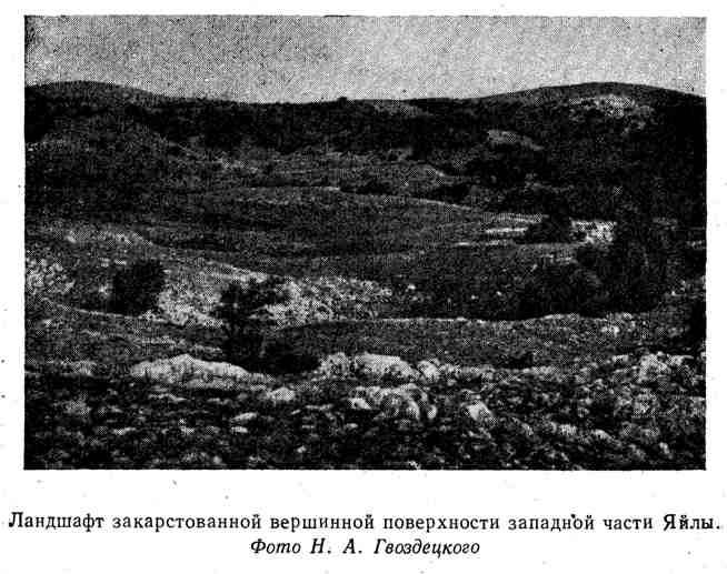 Ландшафт закарстованной вершинной поверхности западной части Яйлы