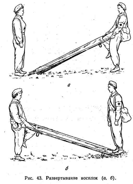 Развёртывание носилок