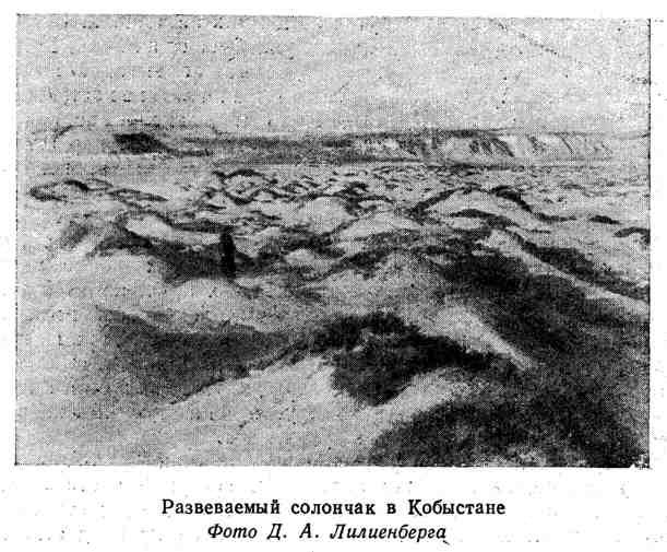 Развеваемый солончак в Кобыстане
