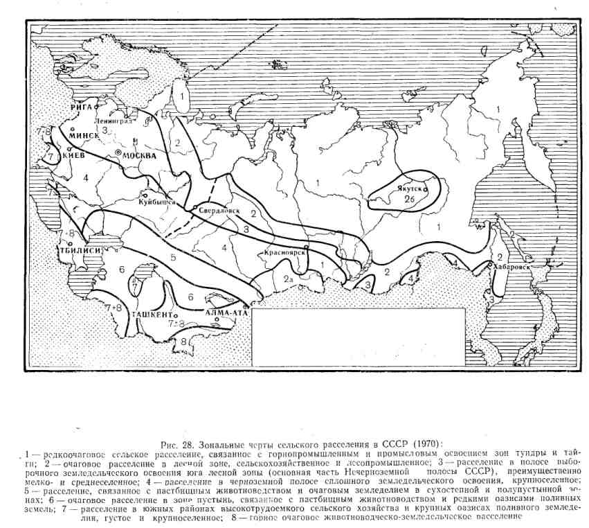 Зональные части сельского расселения в СССР