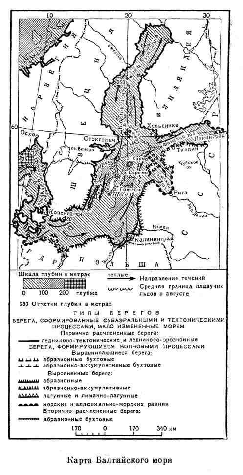 Карта Балтийского моря