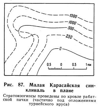 Малая Карасайская синклиналь в плане