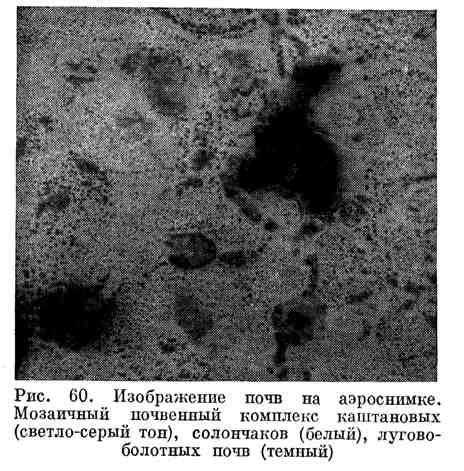 Изображение почв на аэроснимке