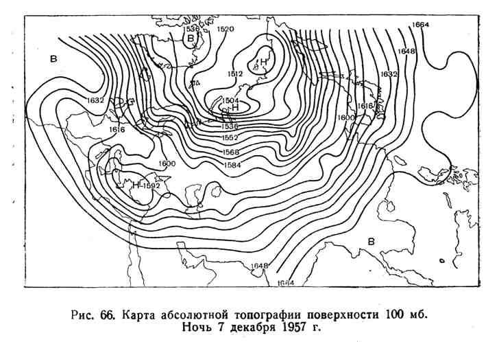Карта абсолютной топографии поверхности 100 мб